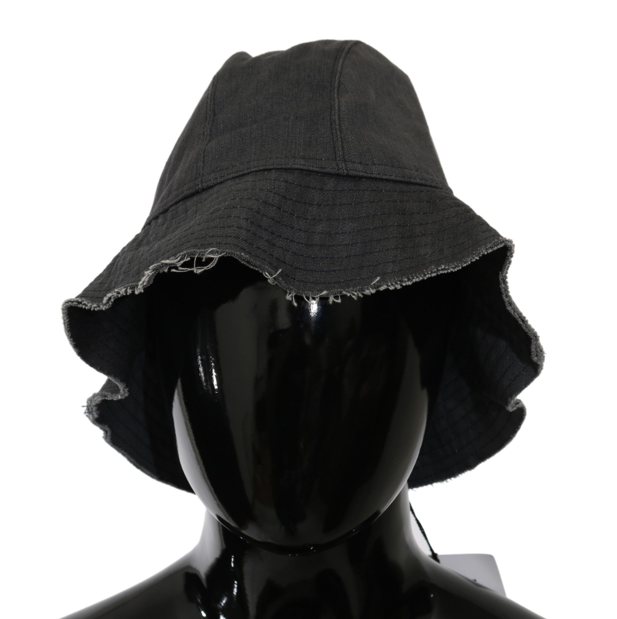 Costume National Women's Washed Wide Brim Outdoor Hat Black HAT20001