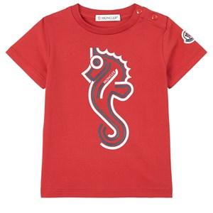Moncler Maglia T-shirt Röd 9-12 mån