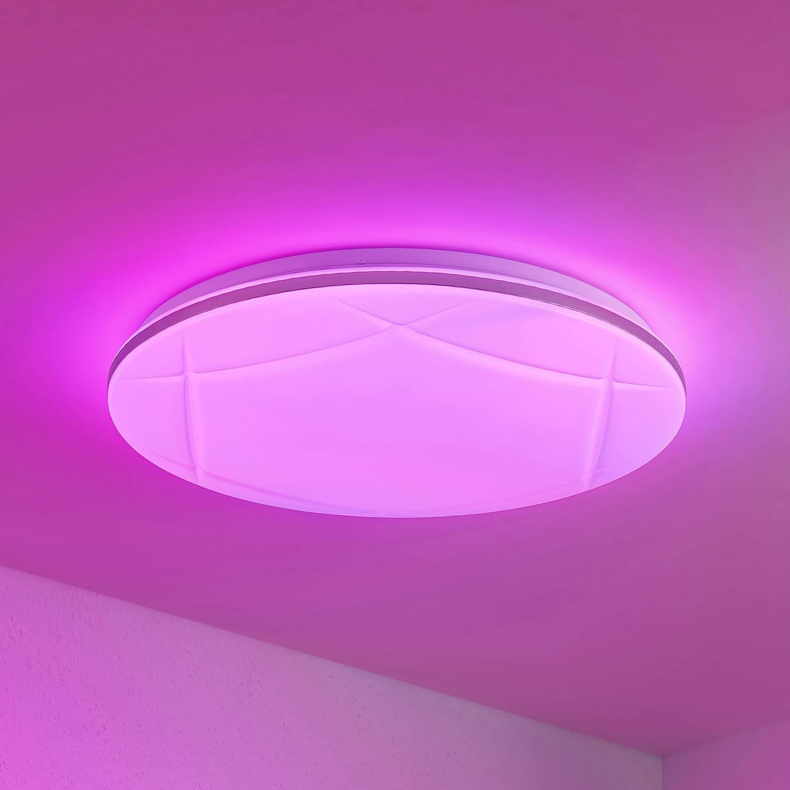 Lindby Favoria LED-taklampe, RGBW, CCT, 49 cm
