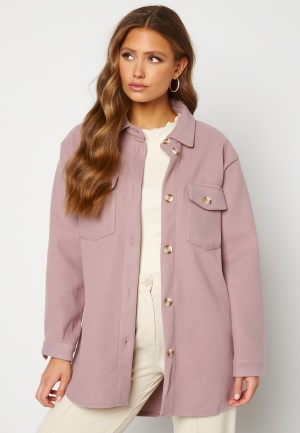 ONLY Valentina L/S Check Shacket Orchid Bloom XS