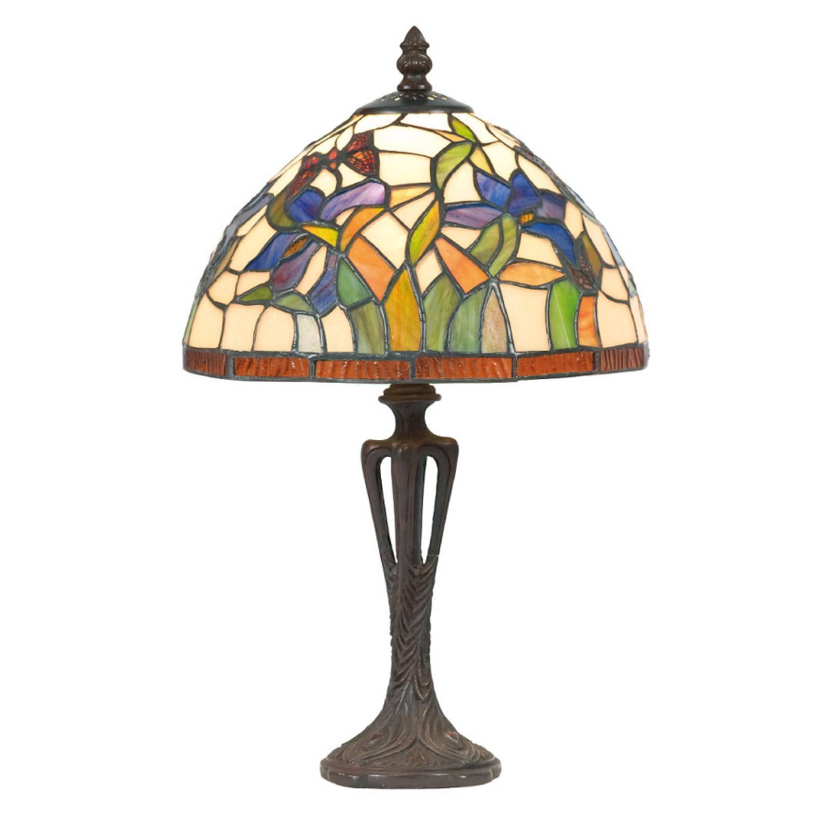 Elanda bordlampe i Tiffany-stil, 40 cm