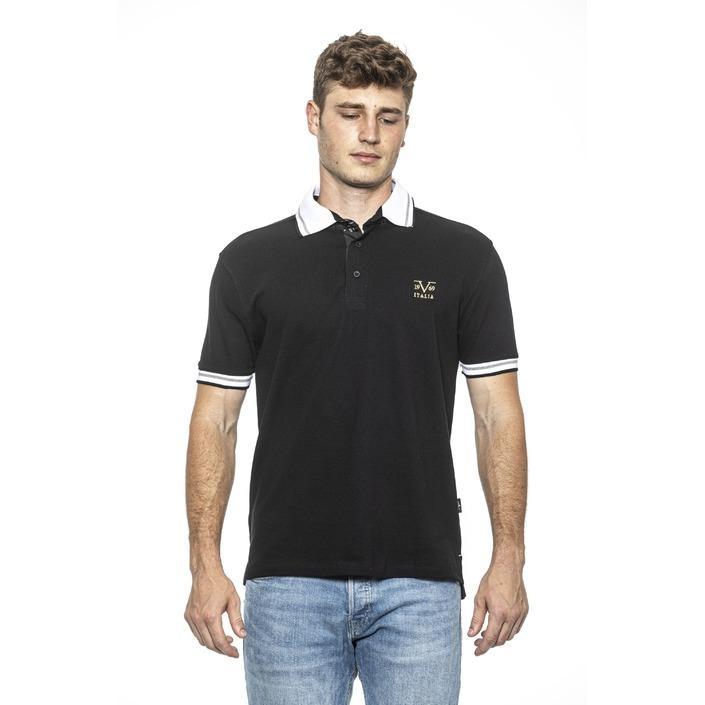 19v69 Italia Men's Polo Shirt Black 187908 - black XL