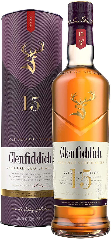 Glenfiddich Single Malt Scotch Whiskey Aged 15 Years 70cl