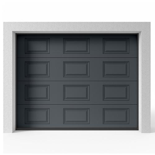 Garasjeport Leddport Moderne Struktur Antrasitt, 2500x2125