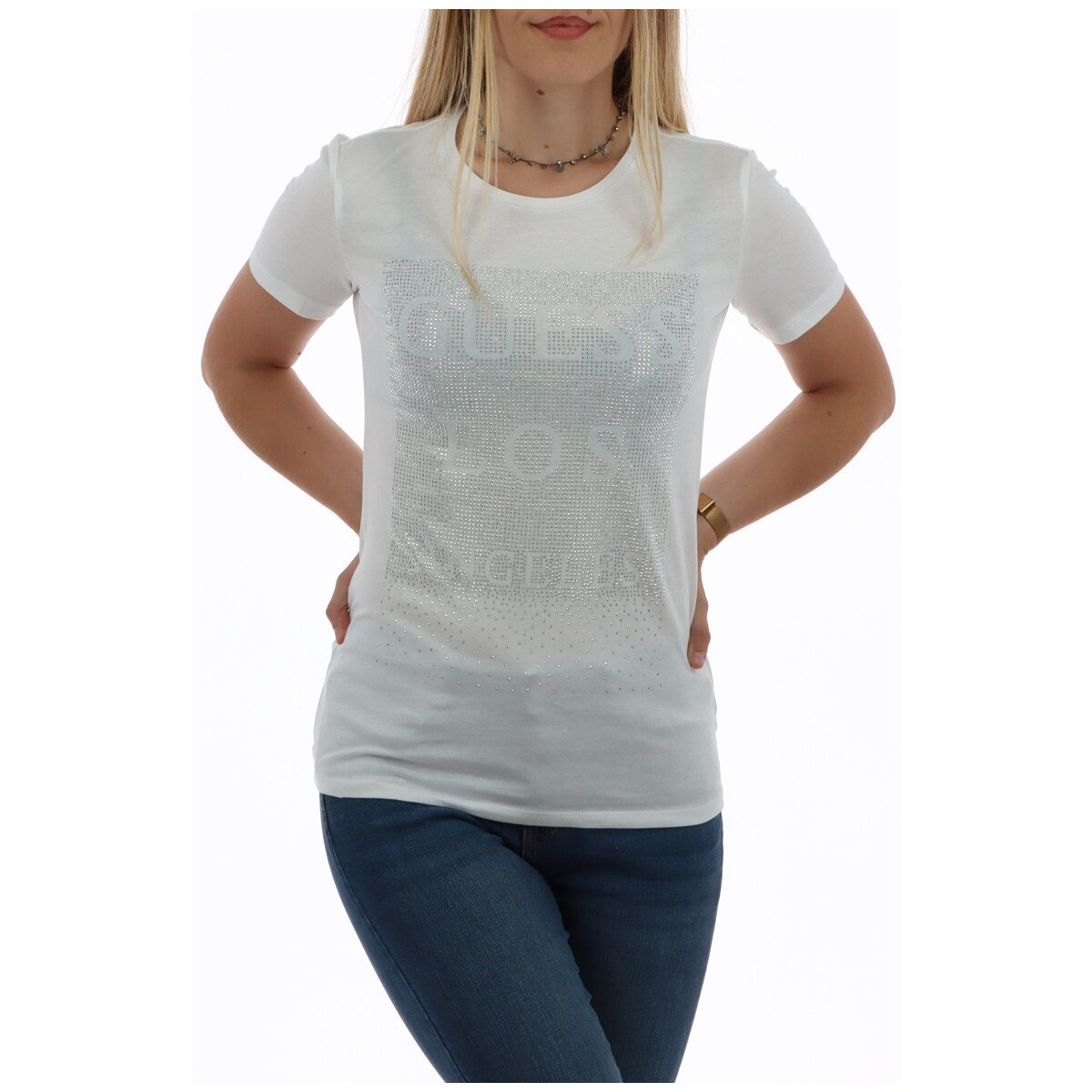 Guess Women's T-Shirt Various Colours 258492 - white XS