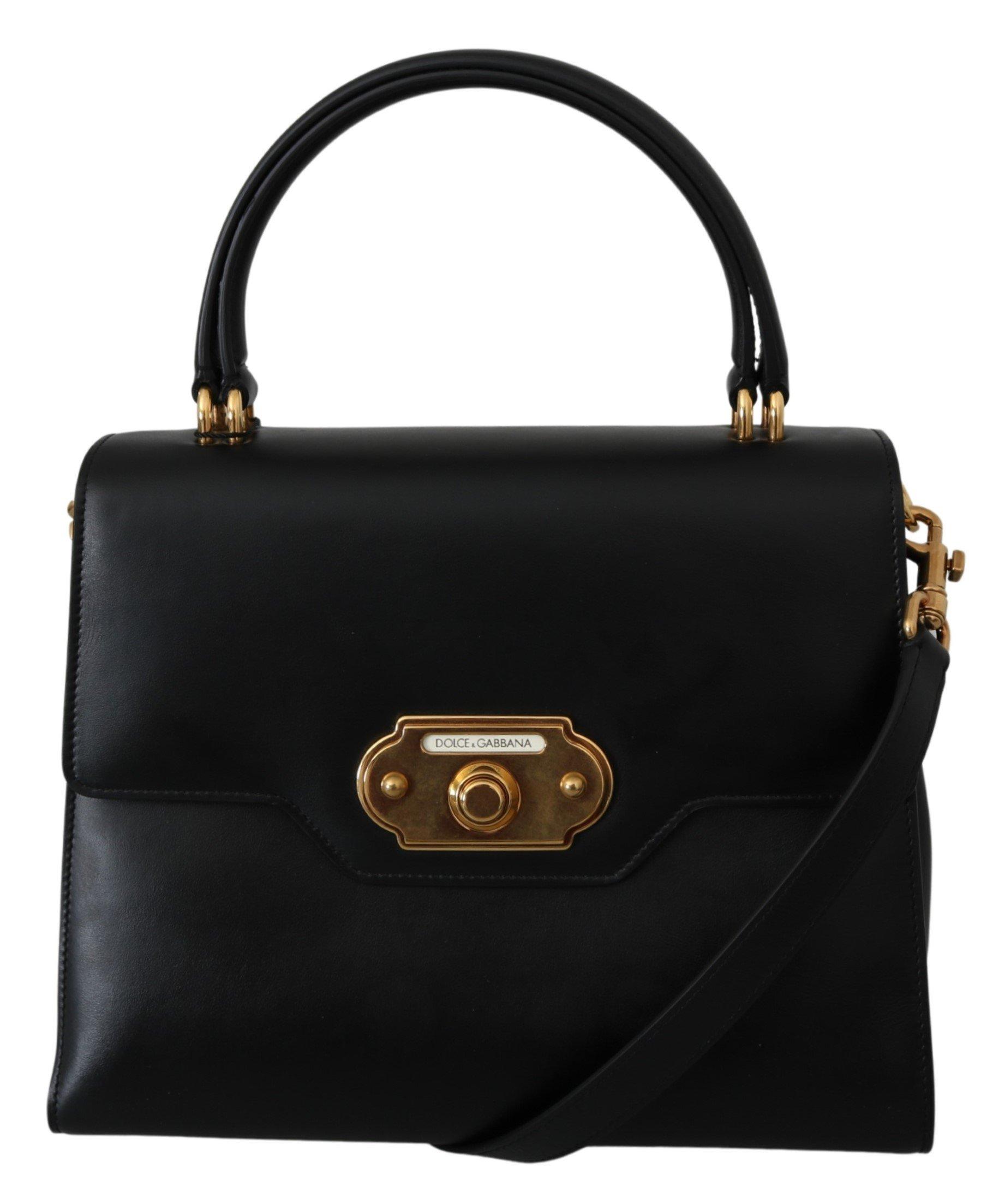 Dolce & Gabbana Women's Leather WELCOME Crossbody Bag Black VAS9959