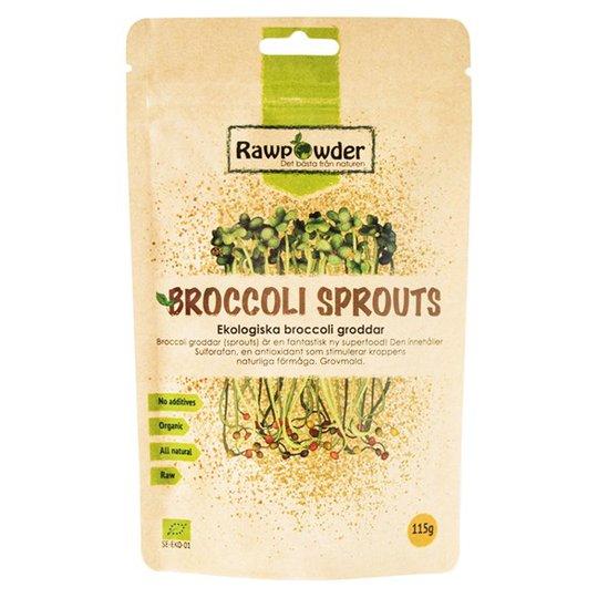 Rawpowder Ekologiska Broccoligroddar, 115 g