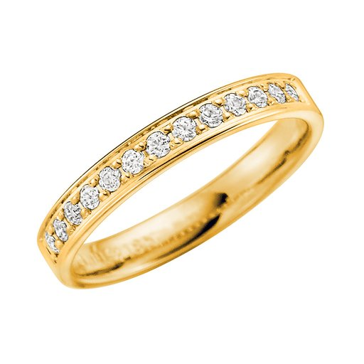 Diamantring i 18K guld, 62