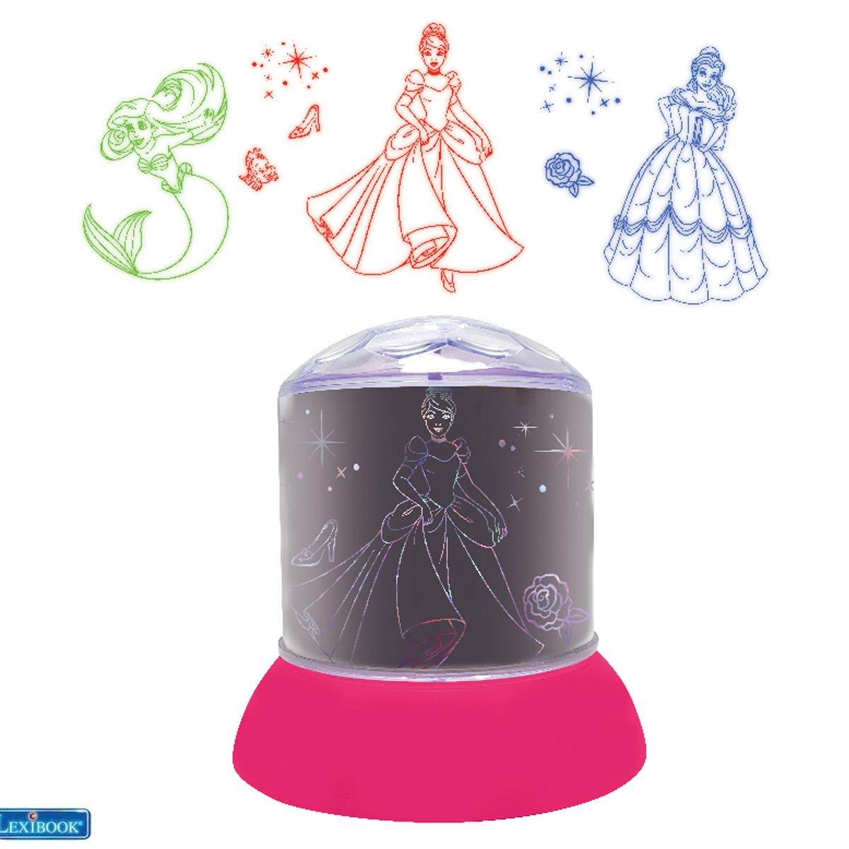 Lexibook - Disney Princess Ceiling Projector Rotative Night Light (NLJ030DP)