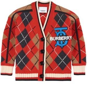 Burberry Verschil Kofta Röd 3 år