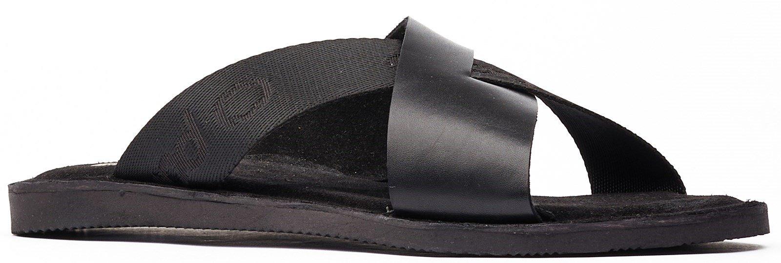 Base London Men's Miso Slip On Sandal Various Colours 32261 - Black 7