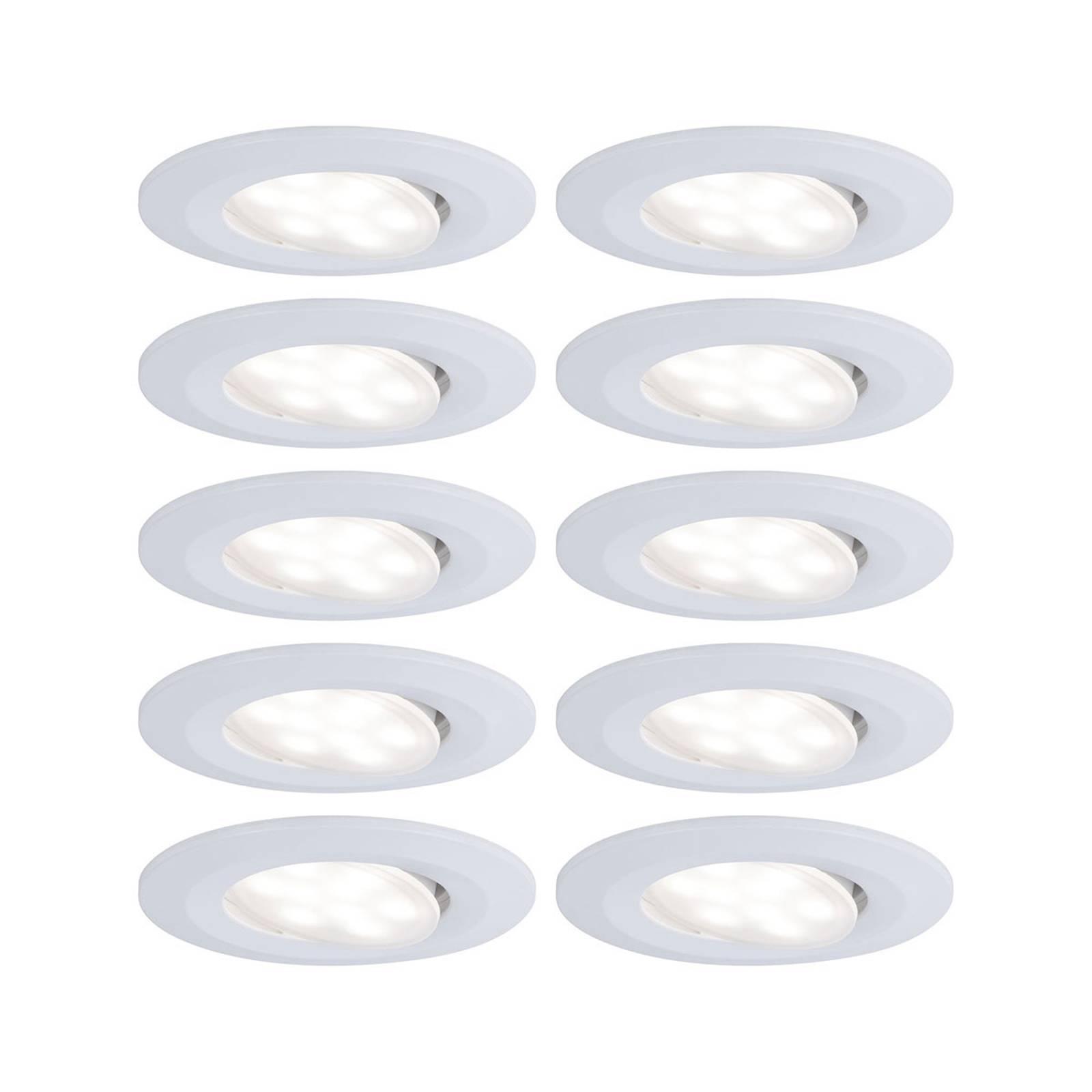 Paulmann LED-kohdevalo Calla, 10kpl, valkoinen