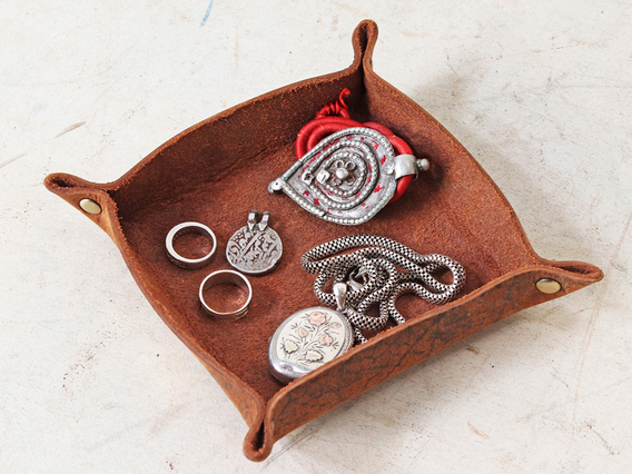 Leather Valet Tray - Small