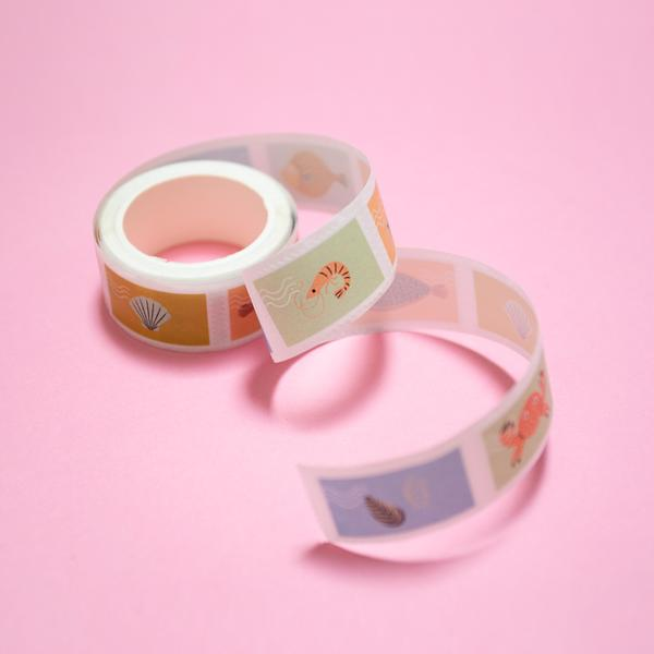 Fish Stamps Washi Stickers