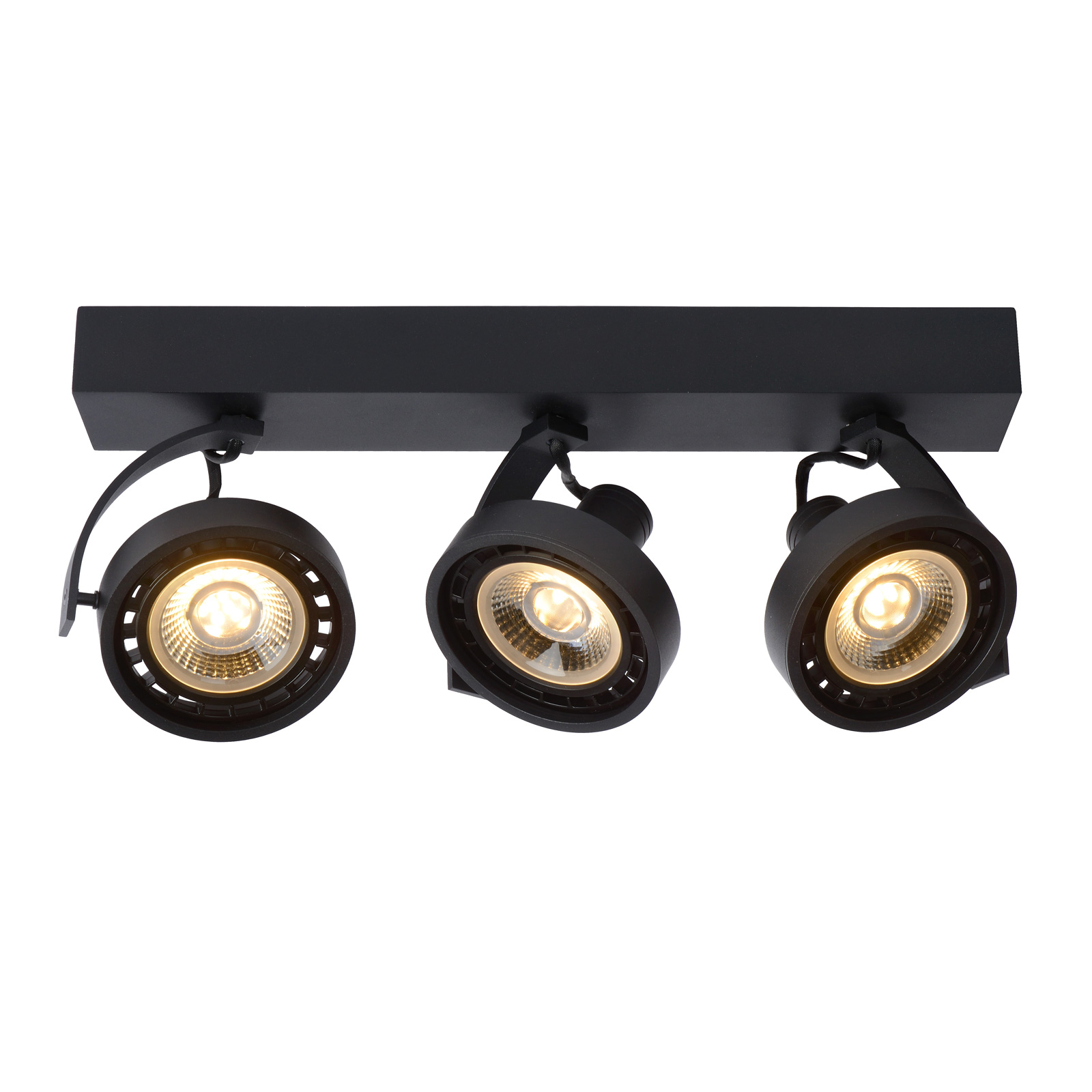 LED-kattokohdevalo Dorian 3-lamppuinen dim to warm