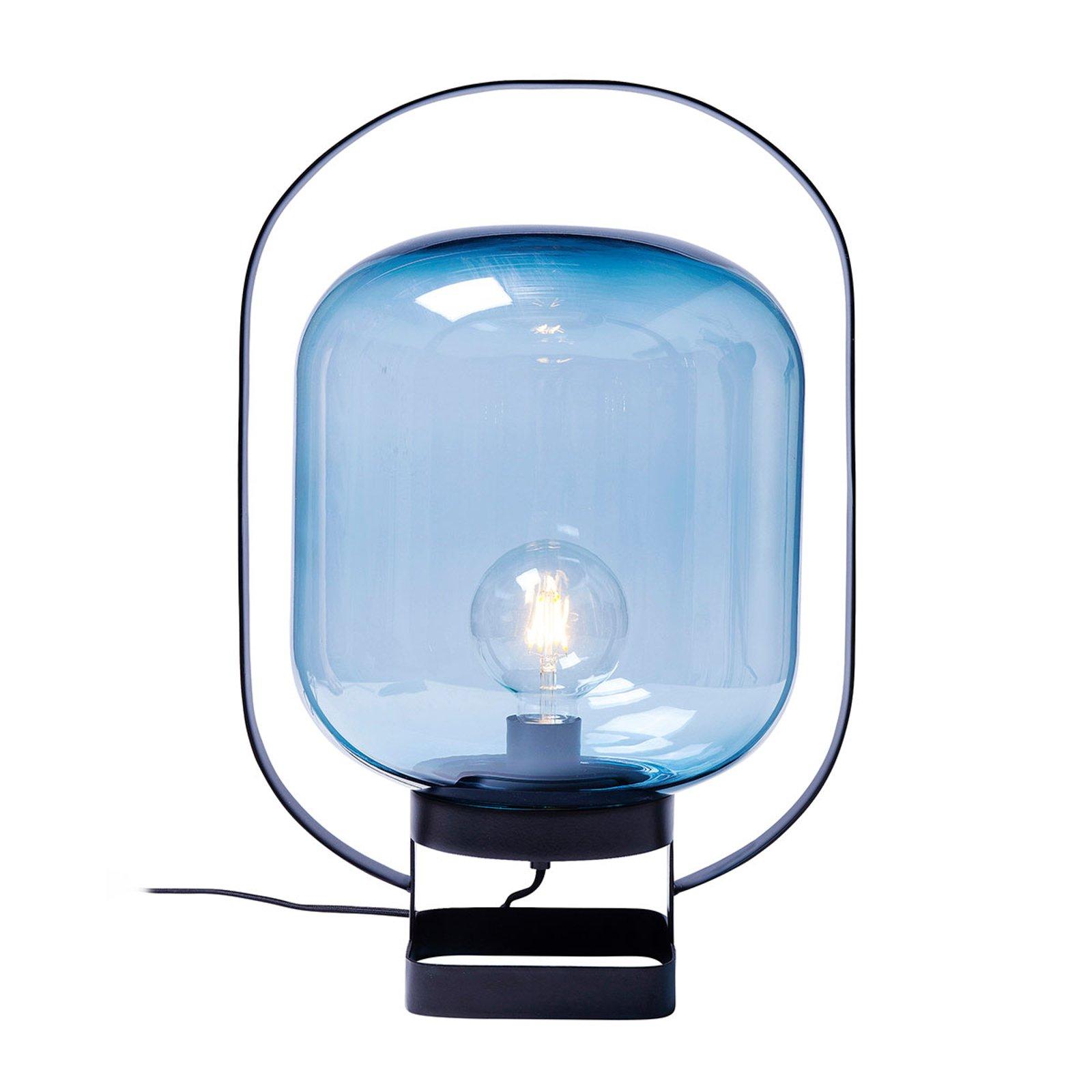 KARE Jupiter Retro bordlampe, blå-svart