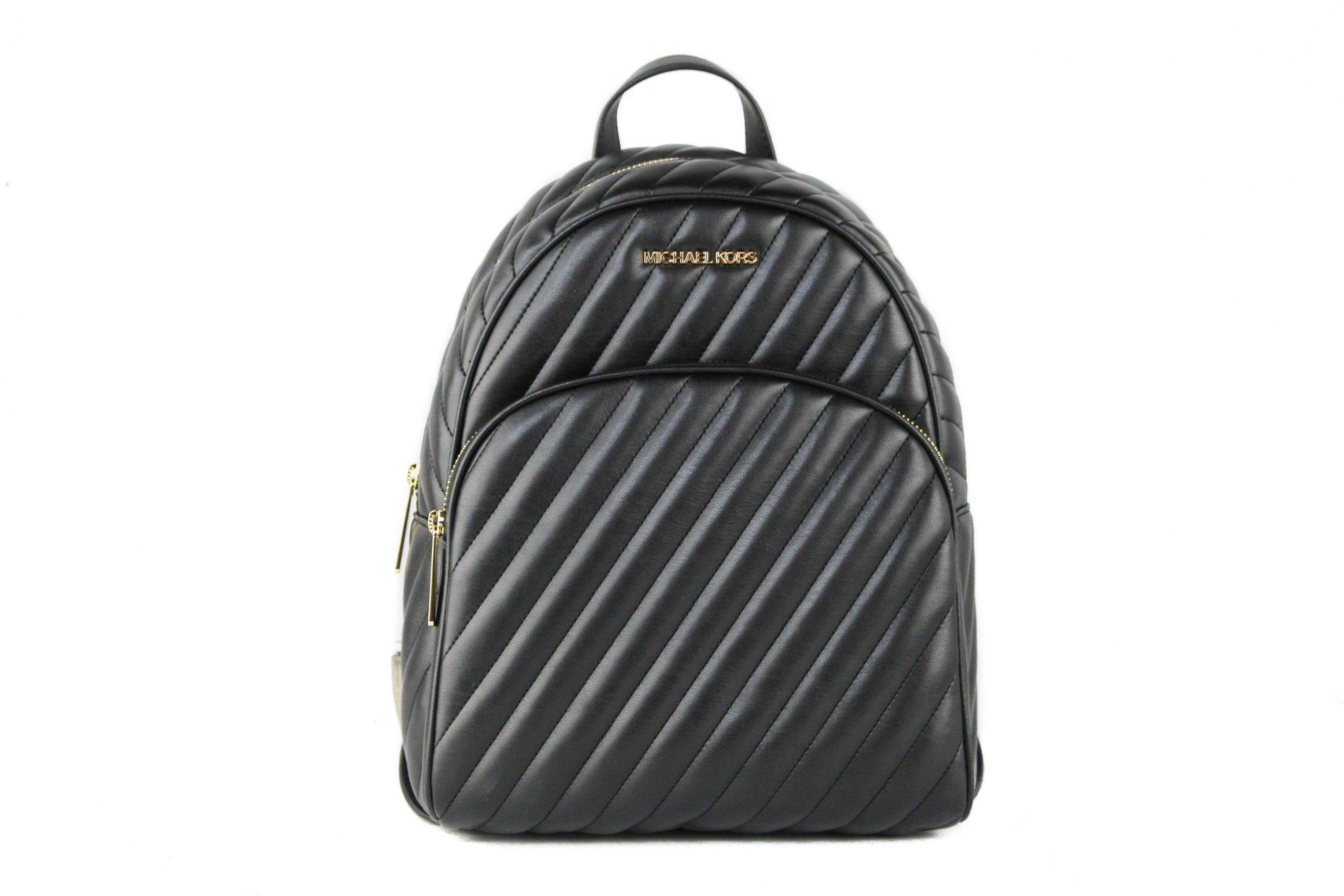 Michael Kors Women's Abbey Vegan Backpack Black 65785