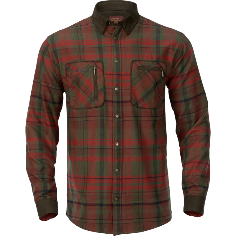 Härkila Pajala Skjorte 5XL 100% bomull, Red Autumn Check