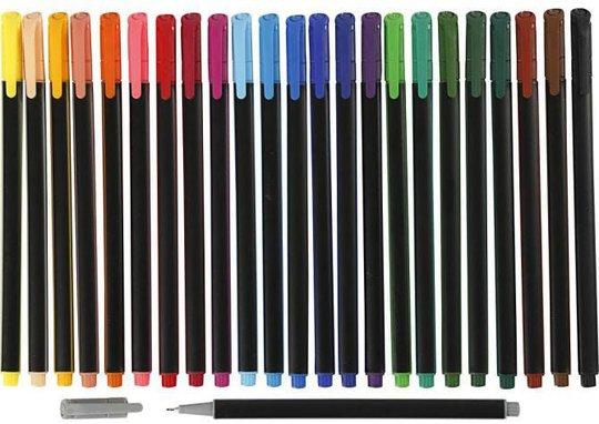 Colortime Dobbeltusj Blandede Farger 24 stk
