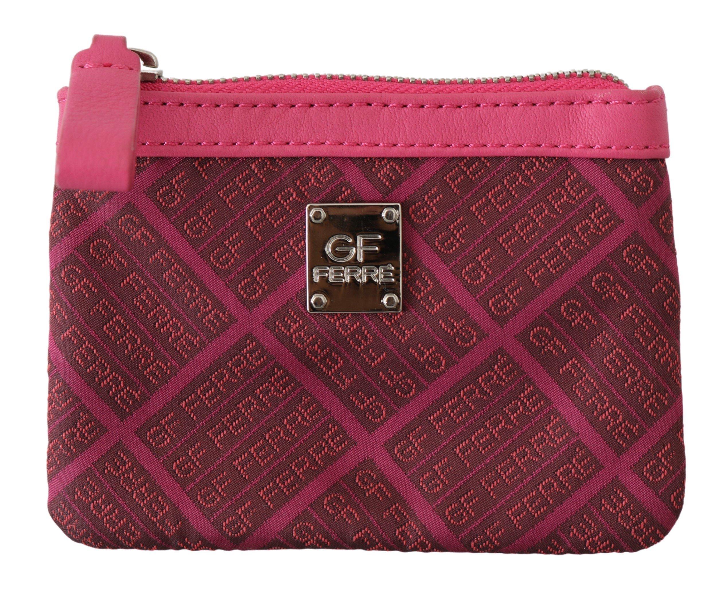 GF Ferre Women's Brand Pattern Logo Textile Wallet Pink VAS9158
