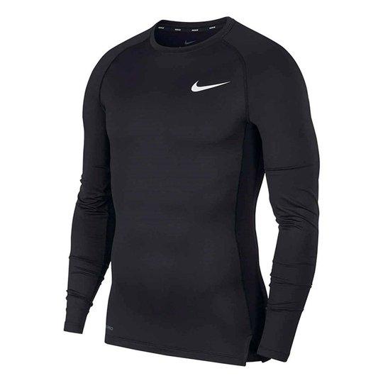 Nike Pro Comp Top L/S, Black