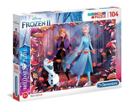 Disney Frozen 2 Brillitant Puslespill, 104 Brikker