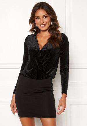 Happy Holly Angela velvet dress Black 44/46