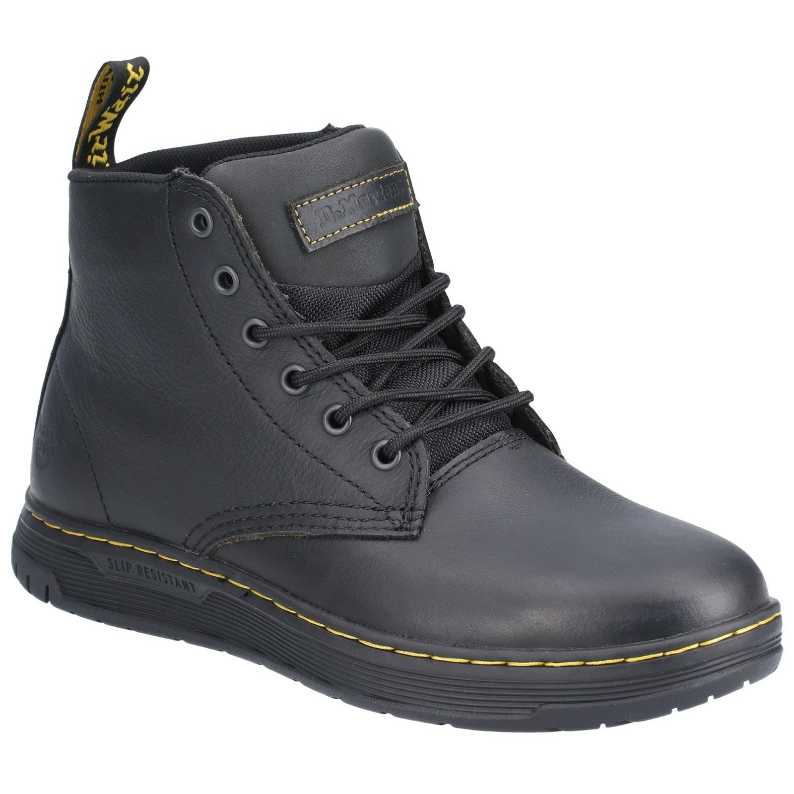 Dr Martens Men's Amwell Slip Resistant Leather Boot Black 29508 - Black 12