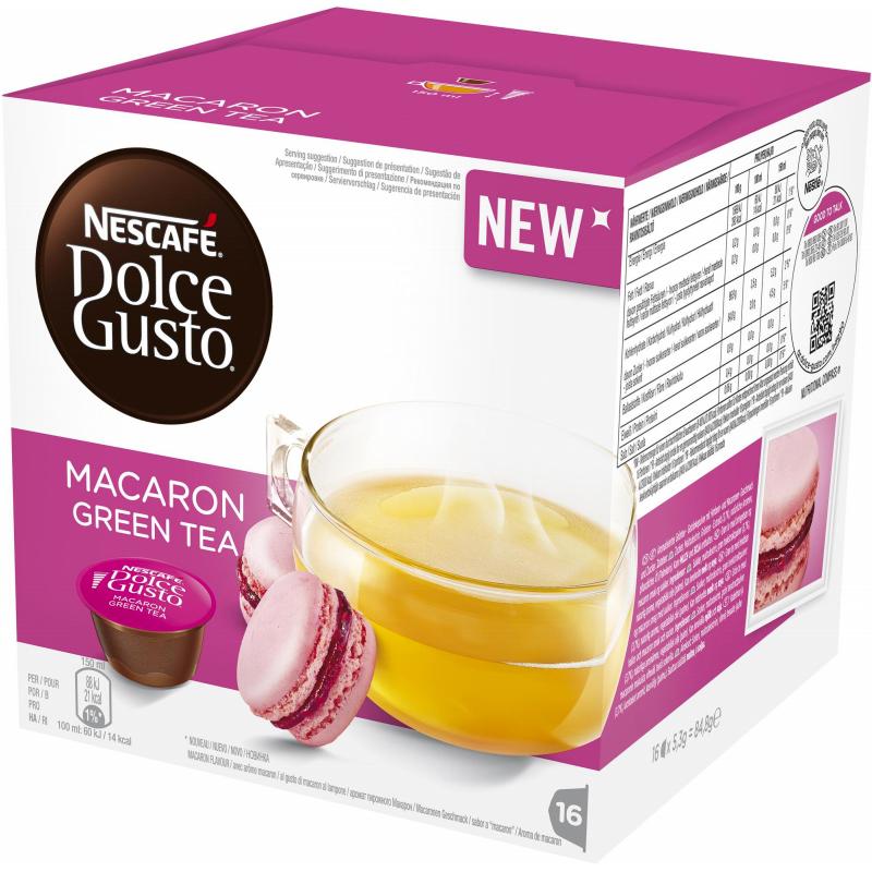 "Tekapslar ""Macaron Green Tea"" 16-pack - 44% rabatt"