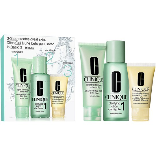 Clinique 3-Step Skin Care Intro Set, Skin Type 1, Clinique Ihonhoitopakkaukset