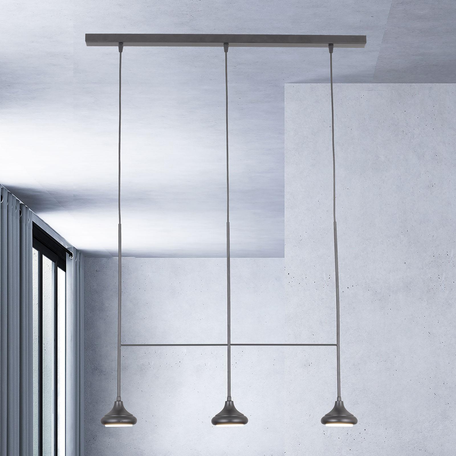 Riippuvalo 1680/3TR, 3-lamppuinen, mattamusta