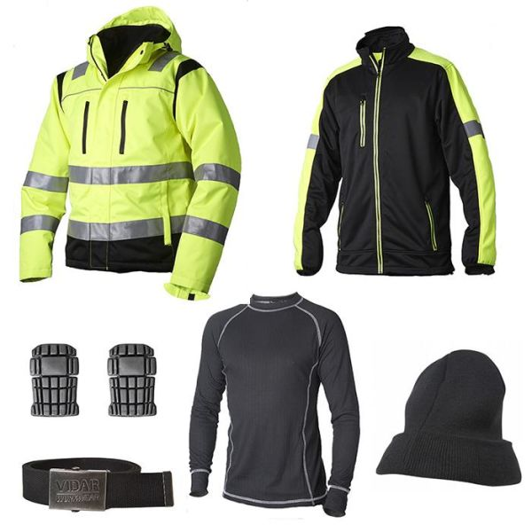 Vidar Workwear Gul Vinterpaket Strl S