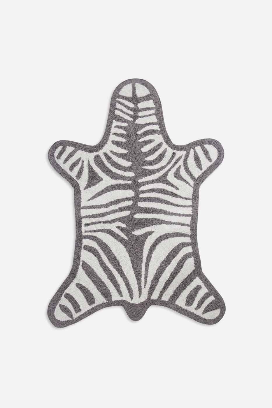 Badrumsmatta Zebra grå