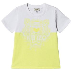 Kenzo Color Block Tiger T-shirt Limegrön 2 years