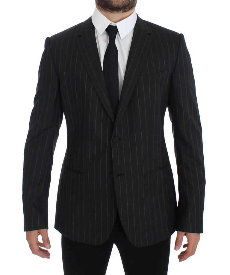 Dolce & Gabbana Men's Striped Slim Fit Wool Blazer Gray GTT10078 - IT50 | L