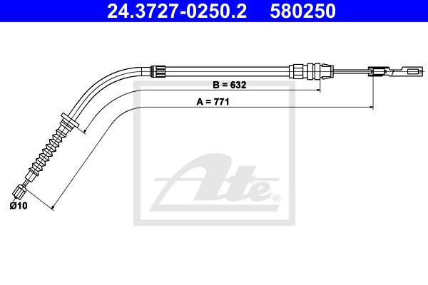 Käsijarruvaijeri ATE 24.3727-0250.2