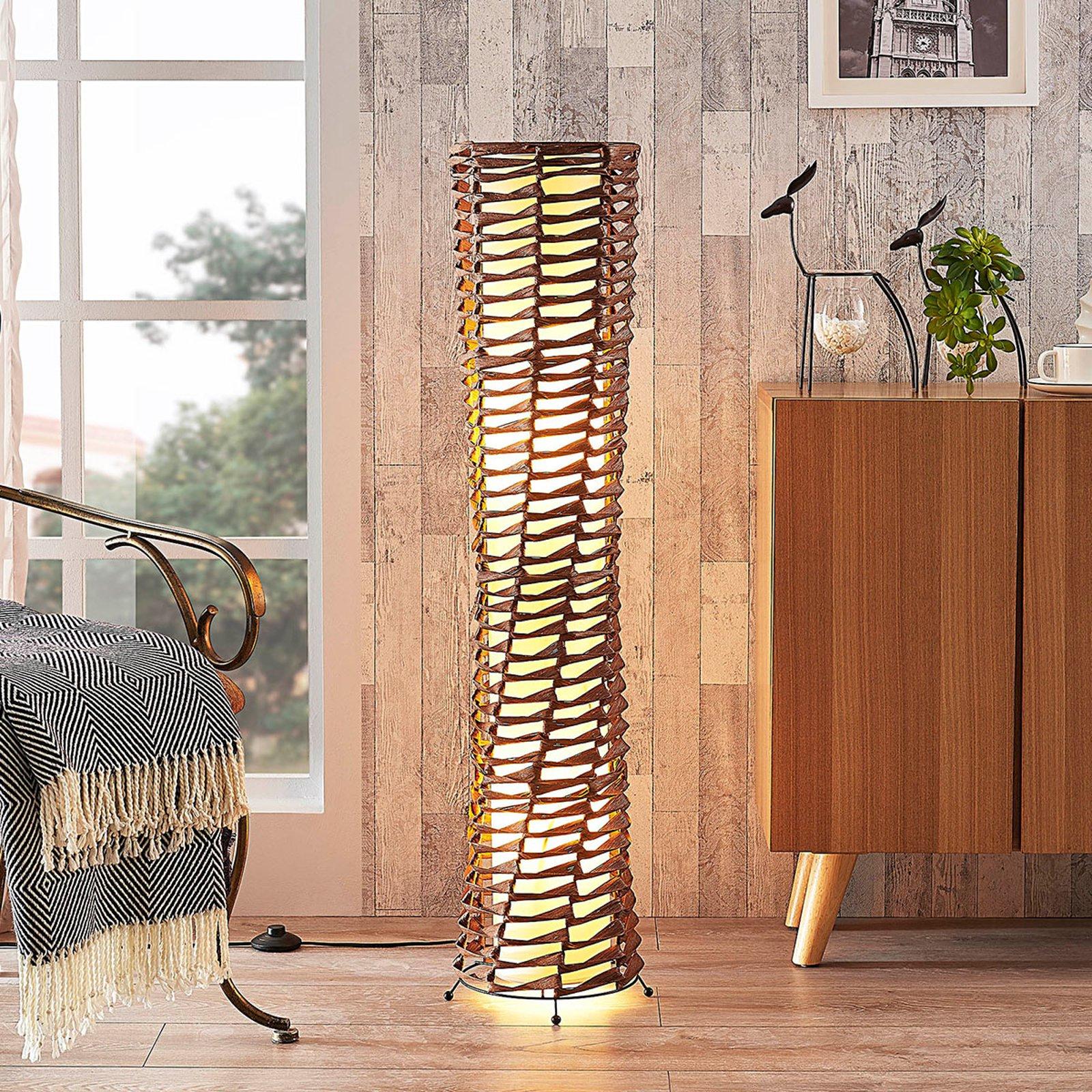 Dekorativ, brun gulvlampe Joas til stuen