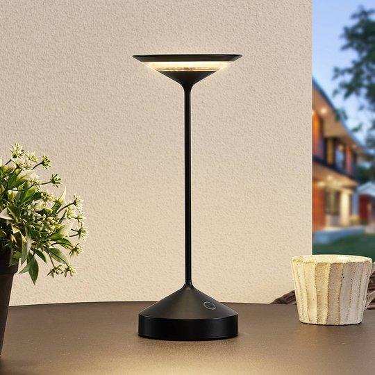 Lucande Raminum LED-bordlampe for utebruk, svart