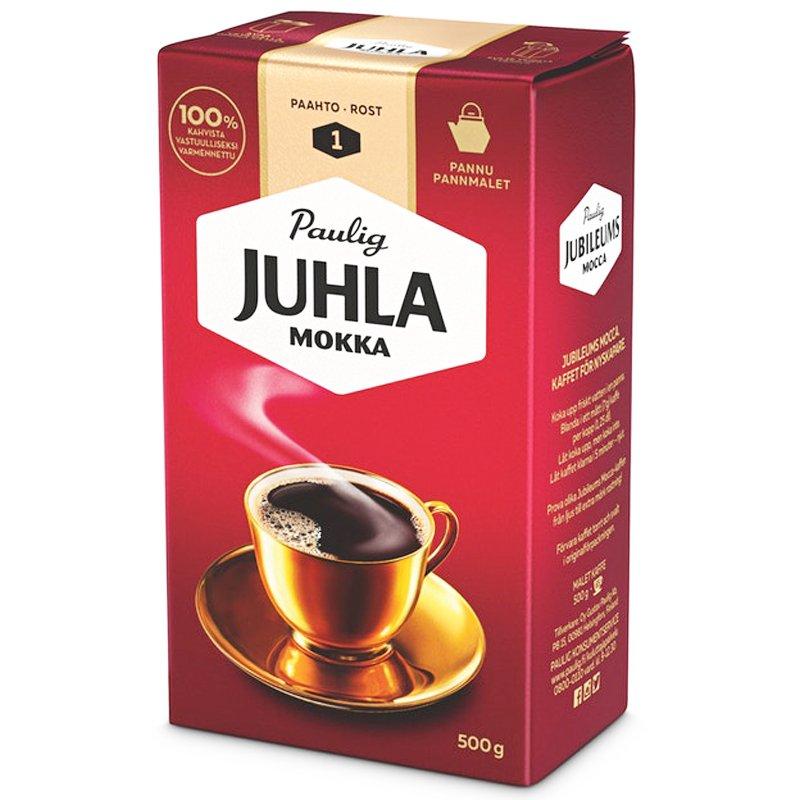 Juhla Mokka pannujauhettu kahvi 500g - 32% alennus