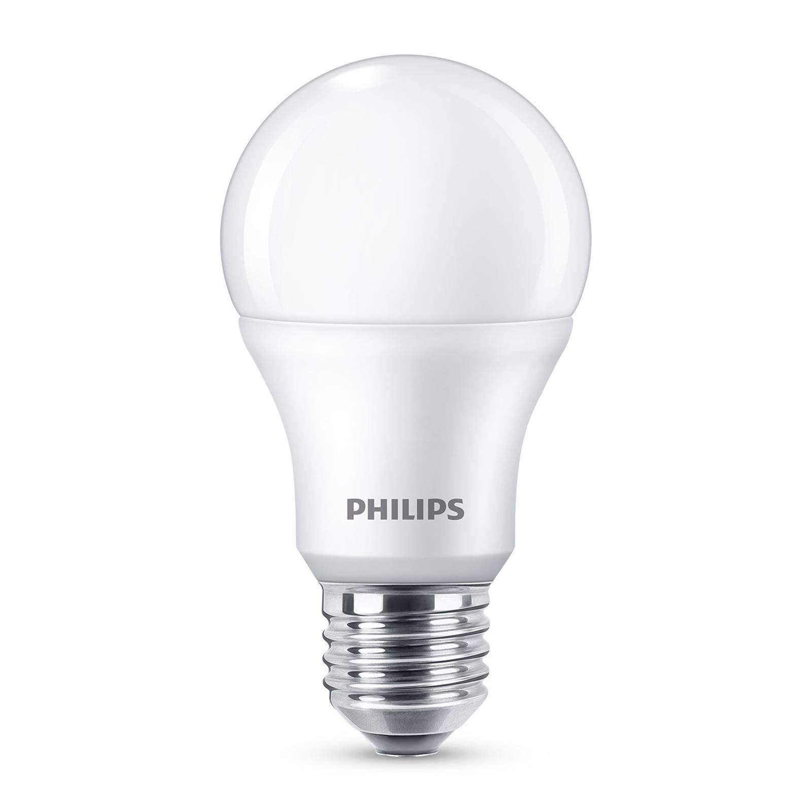 Philips E27 LED-pære A60 8 W 2 700 K matt 6-pakk