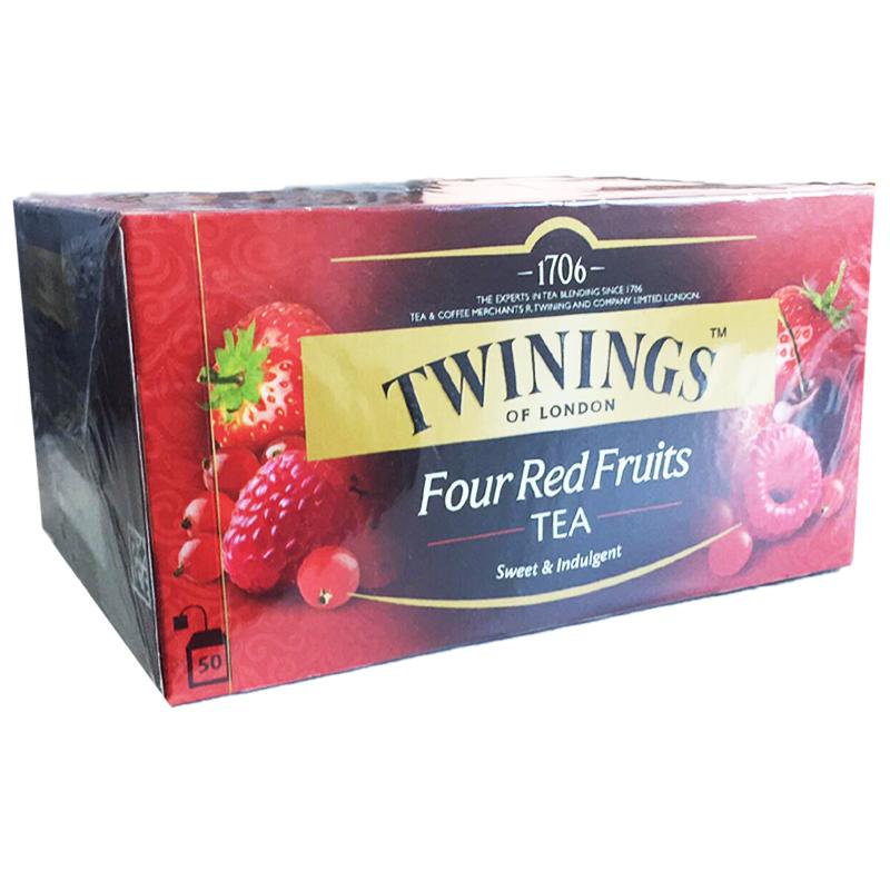 "Svart Te ""Four Red Fruits"" 50-pack - 33% rabatt"