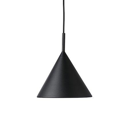 metal triangle pendant lamp M matt black