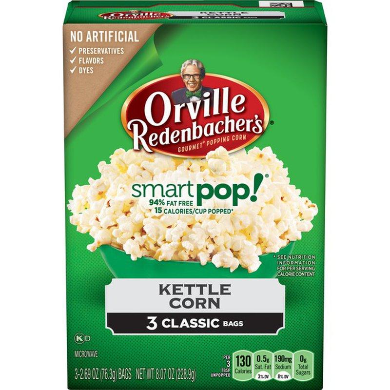 Orville Redenbachers Smart Pop Popcorn Kettle Corn 3-pack