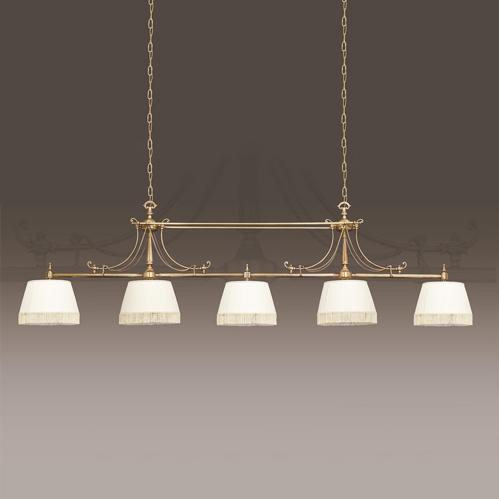 Vaikuttava Sopia-tekstiiliriippuvalaisin 5 lamppua