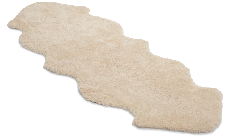 Dobbelt krøllete saueskinn - 30211 beige