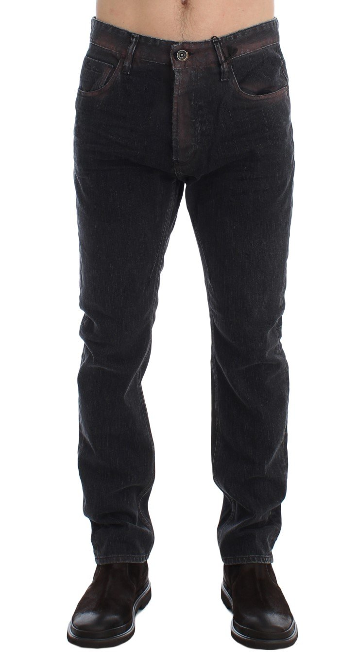 Costume National Men's Wash Regular Cotton Denim Jeans Gray SIG17958 - W34