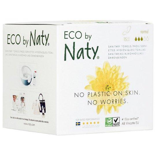 Naty Miljövänliga Bindor normal, 15 st