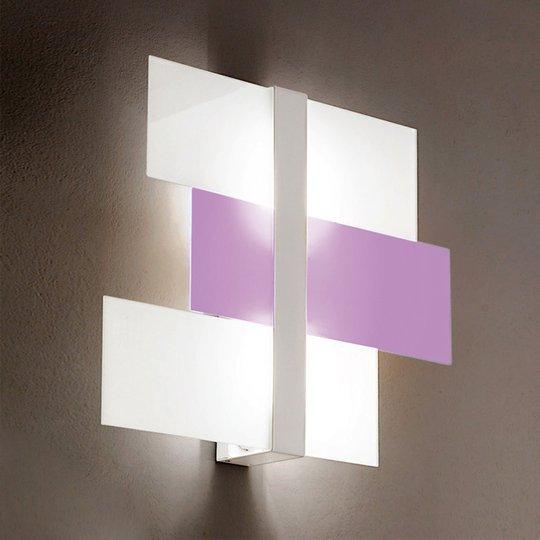 Abstrakti Triad-kattovalo 62 cm valkoinen/liila