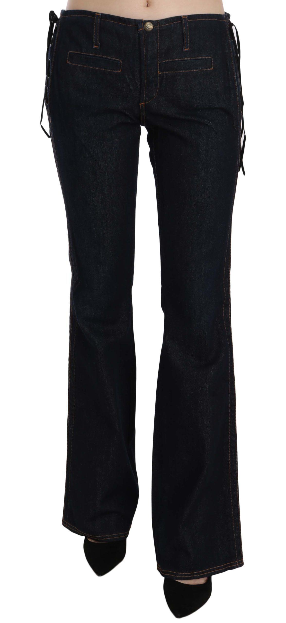 Just Cavalli Women's Low Waist Boot Cut Denim Trouser Blue PAN70372 - W26