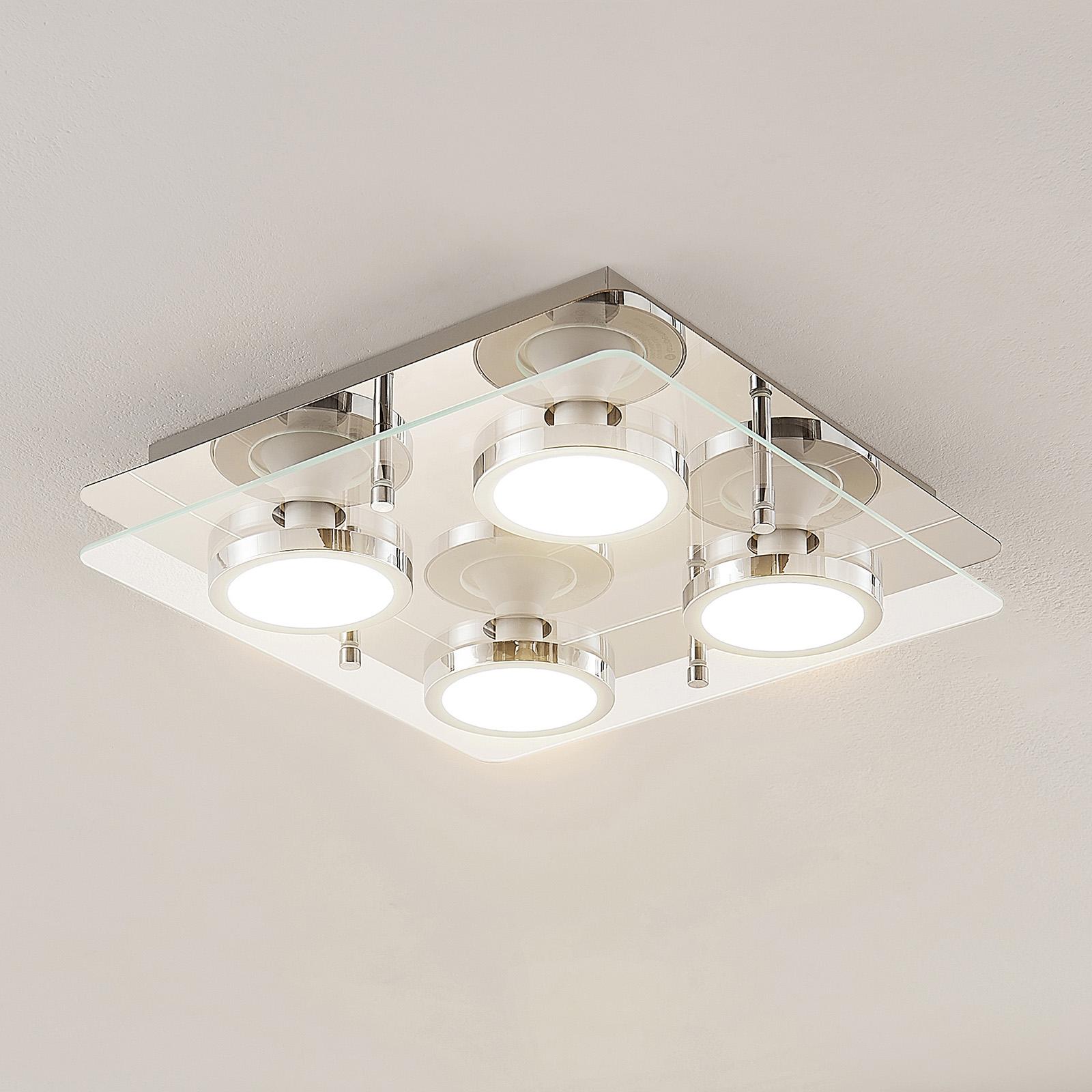 Lindby Gabryl LED -kattovalaisin, nelilamppuinen